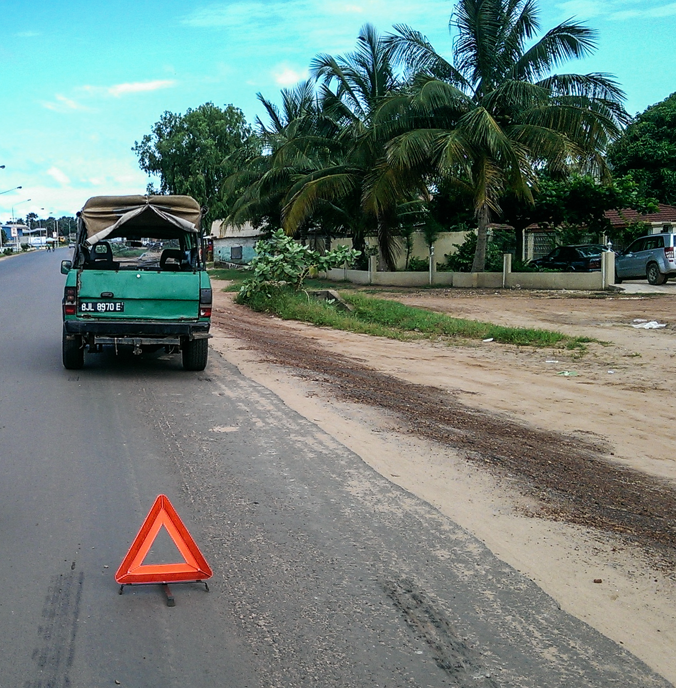 Green taxi in Gambia