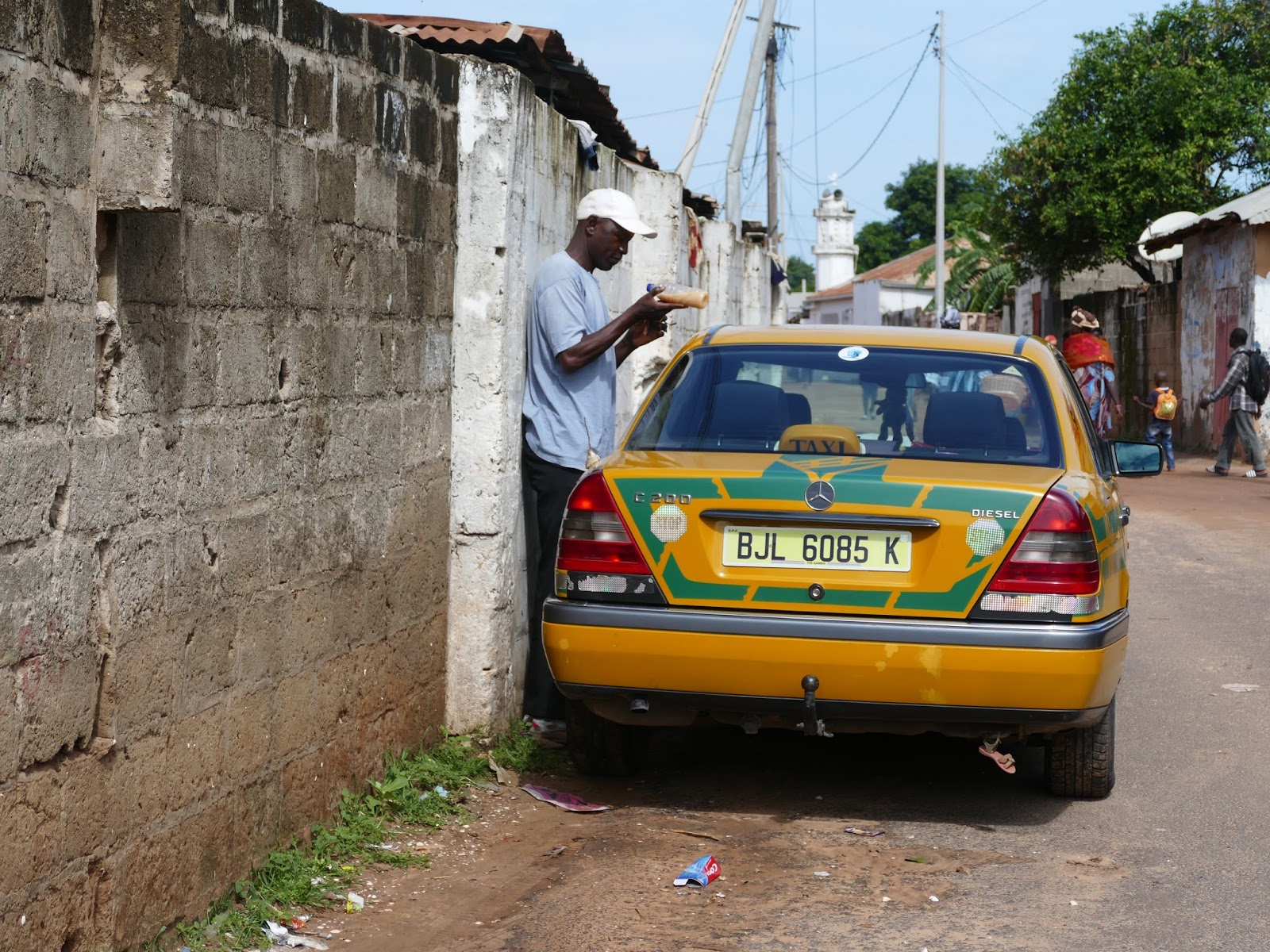 Driving in Gambia