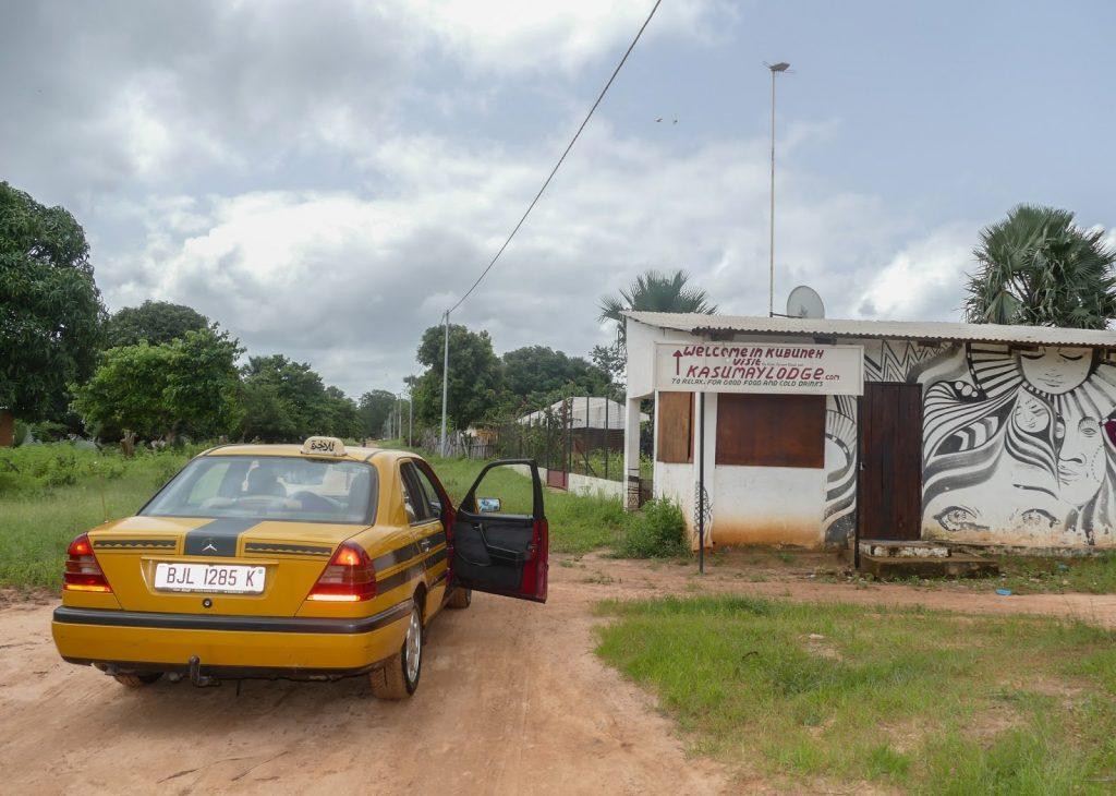 Yellow taxi in Gambia