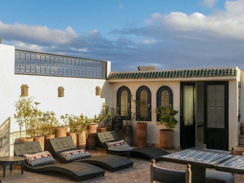 Luxury road in Marrakech