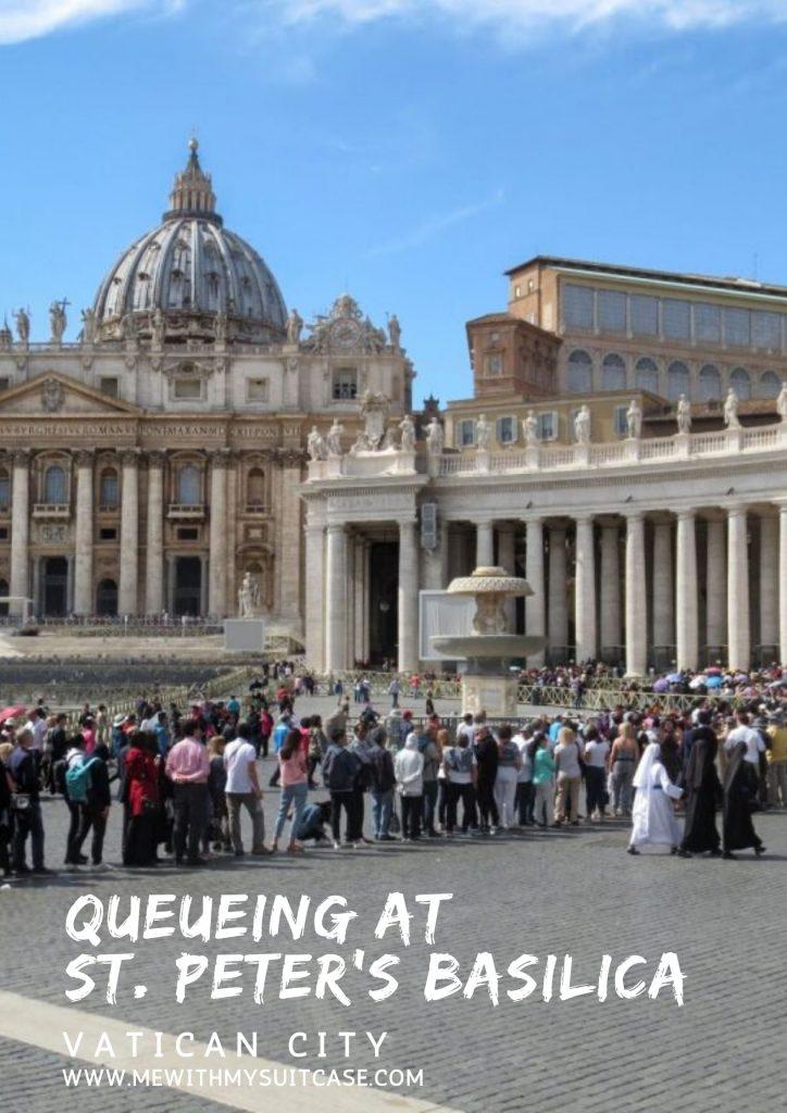 queueing at St. Peter's Basilica