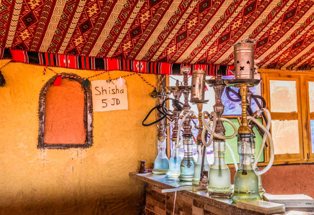 Where to smoke in Wadi Rum