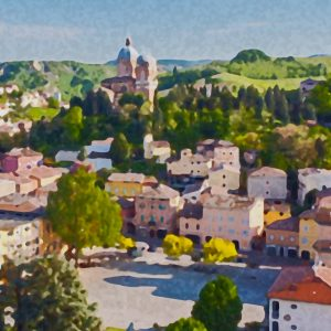 Fiorano Modenese Print on Canvas