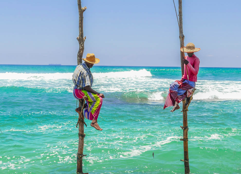 Sri Lankan stilt fishermen