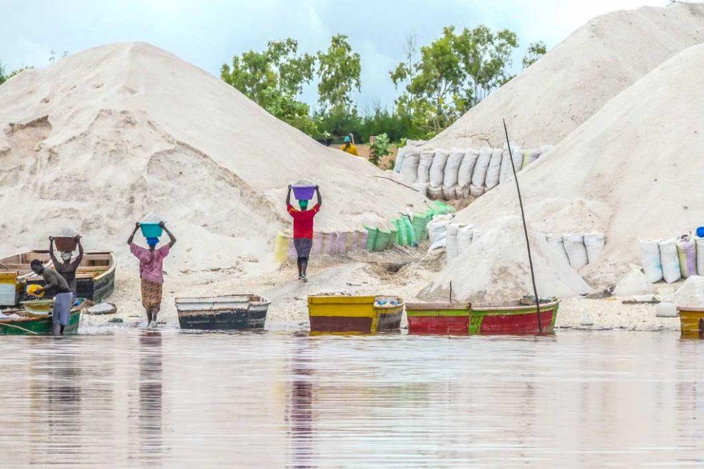Pink Lake in Senegal