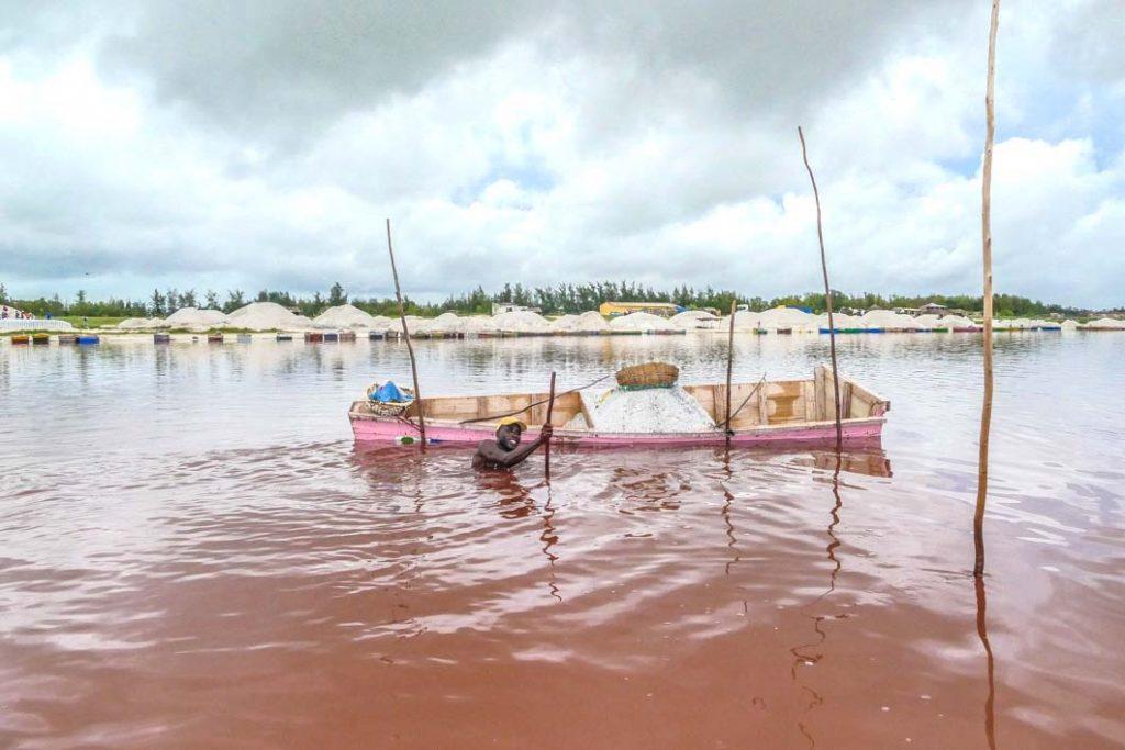Pin k lake in Senegal