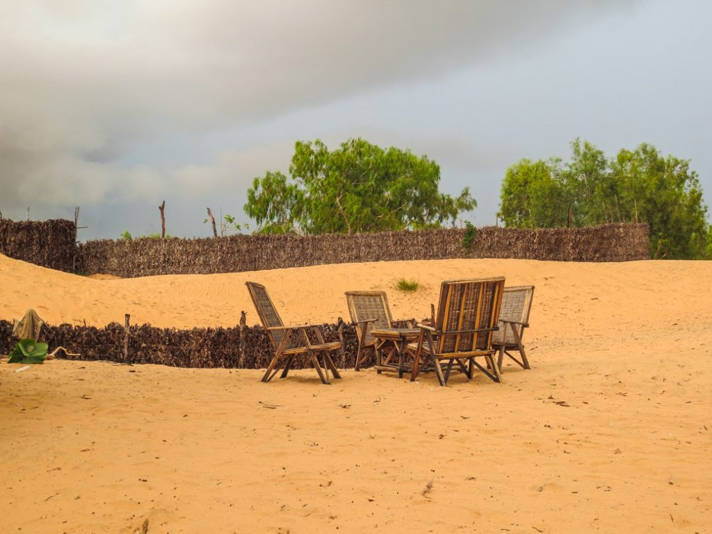 Desert camp in Senegal